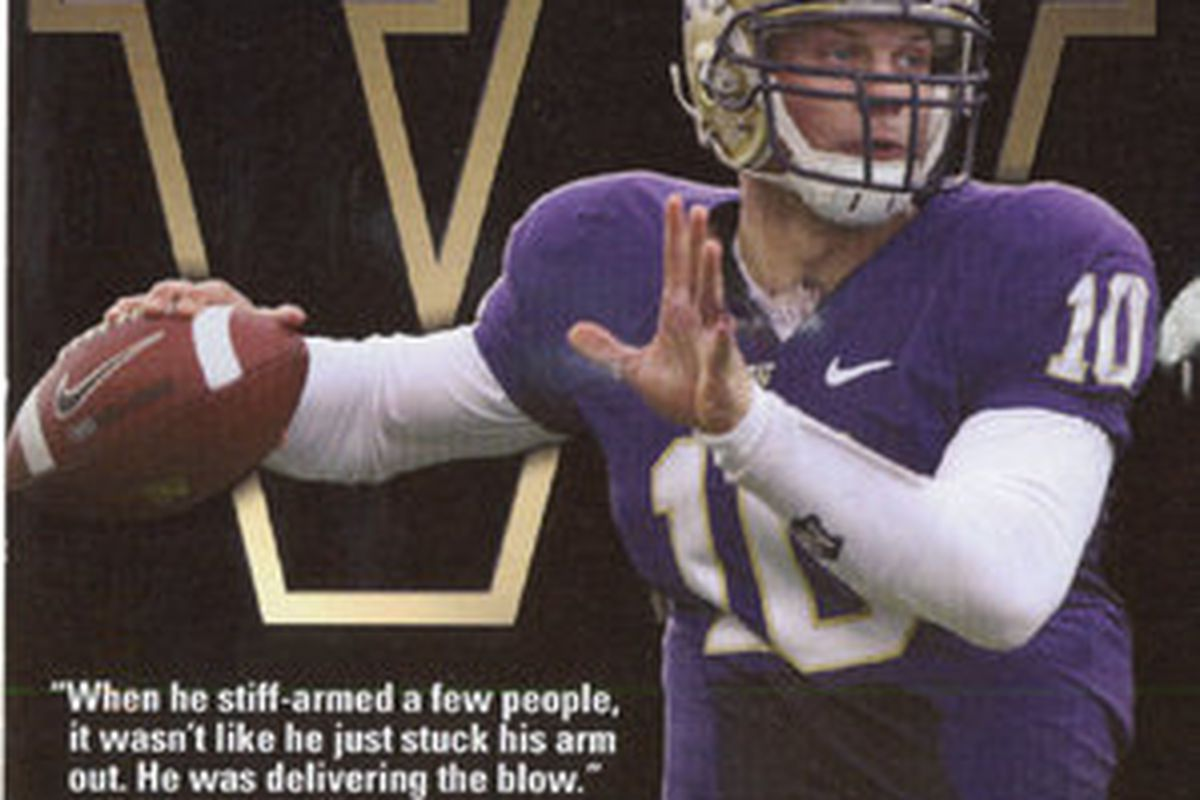 The UW released the Jake Locker postcard this week which will be sent to journalists around the country to promote his Heisman canidacy.