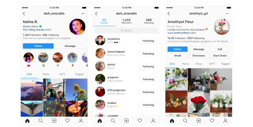 Instagram's new profile designs emphasize users instead of
