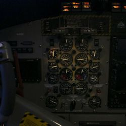 A view inside the cockpit of the Twin Otter DHC-6 before take off at the Salt Lake City International Airport in Salt Lake City on Sunday, Feb. 12, 2017.
