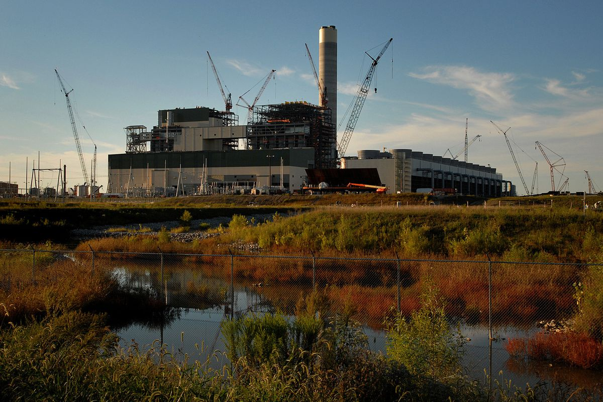 A Sept. 2010 photo shows the Prairie State Energy Campus, then still under construction in southern Illinois in Washington County. The energy campus includes both a coal mine and an electric generation plant.