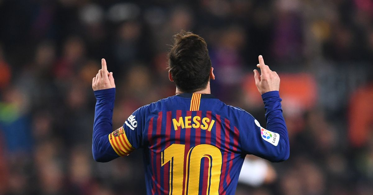 Barcelona 1-0 Real Valladolid: Lionel Messi penalty ...