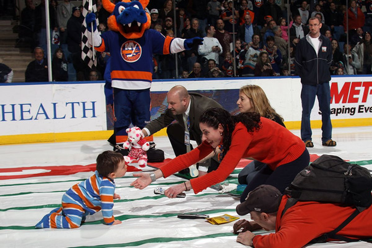 The kid won the entire Islanders' draft class of 2030 for winning the race, but turned it down. He then made a Howson in his diaper.