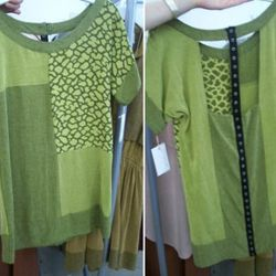 Front and back of a new Popomomo tunic