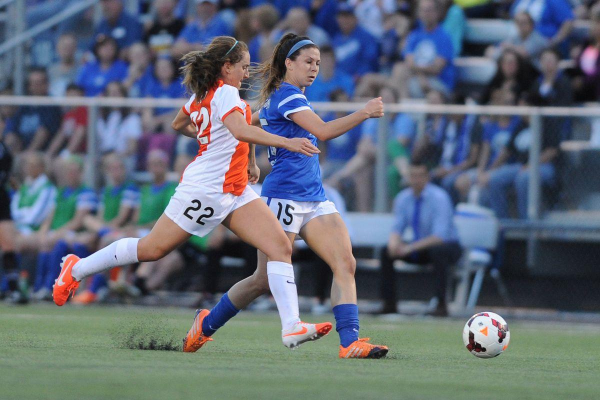 FC Kansas City's Erika Tymrak fighting control
