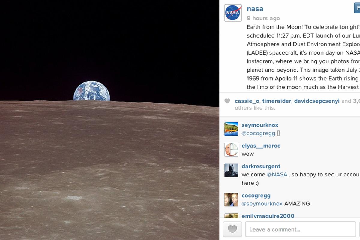 NASA's first Instagram photo