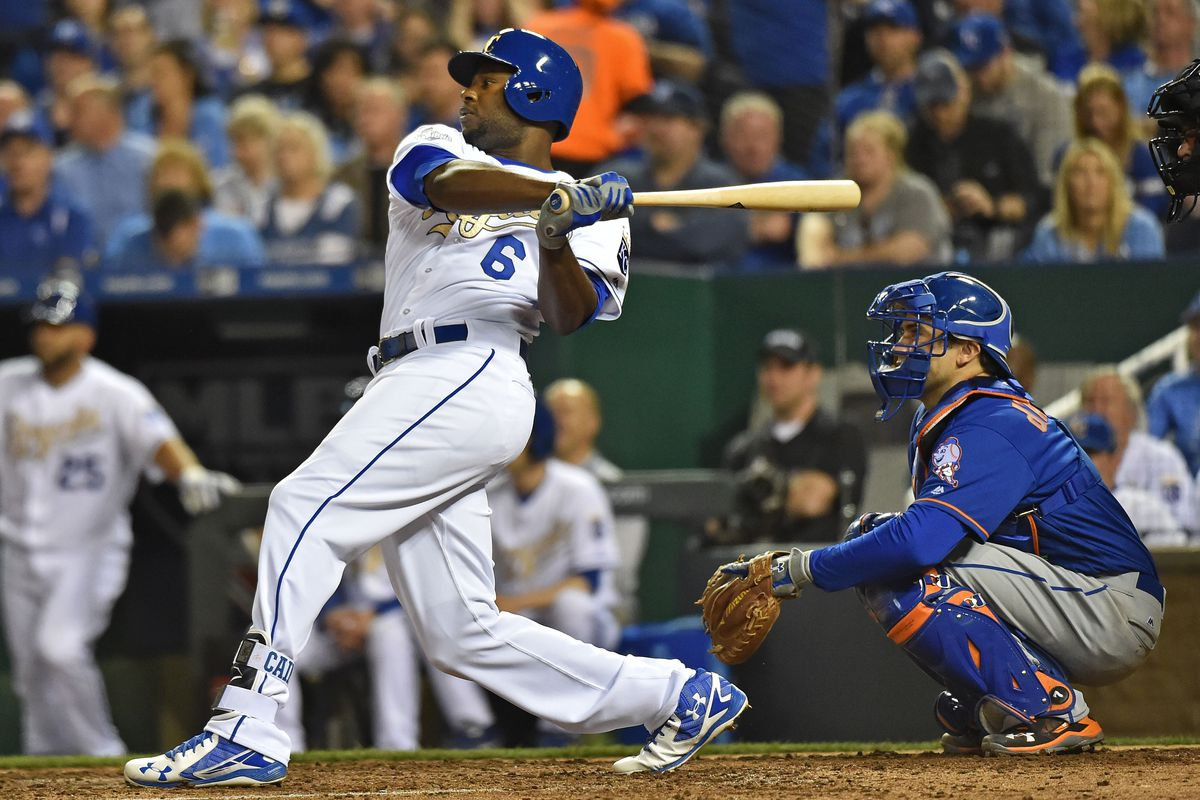 Lorenzo Cain leading the Royals' charge