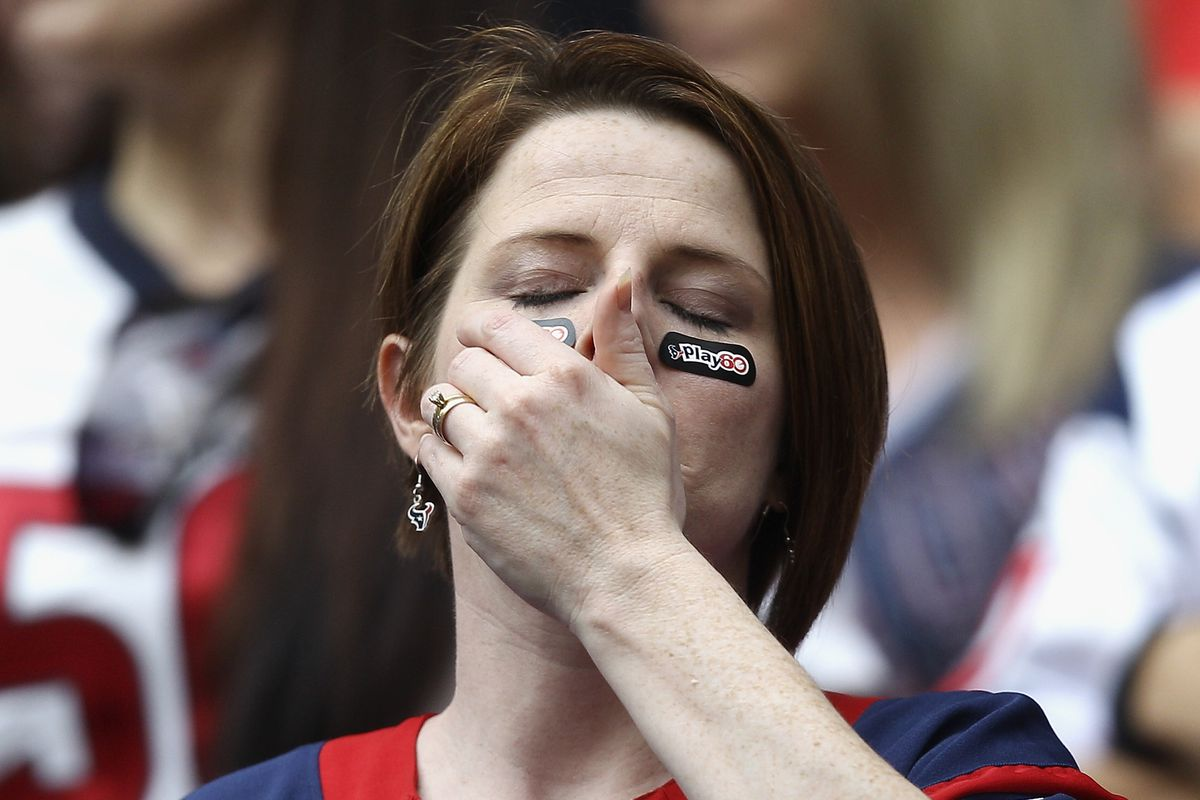 We have no shortage of pictures of Texans fans like this in 2013.