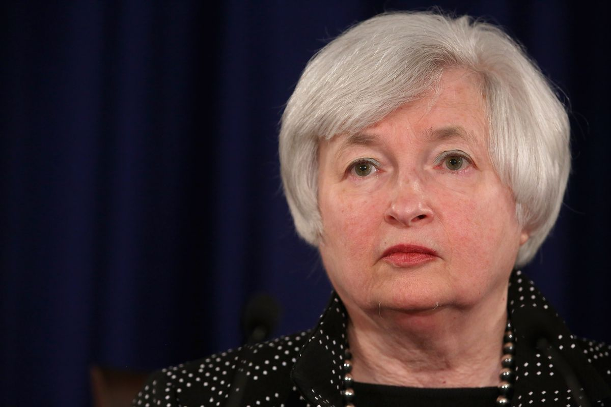 Yellen, patiently waiting for the right time to raise interest rates.