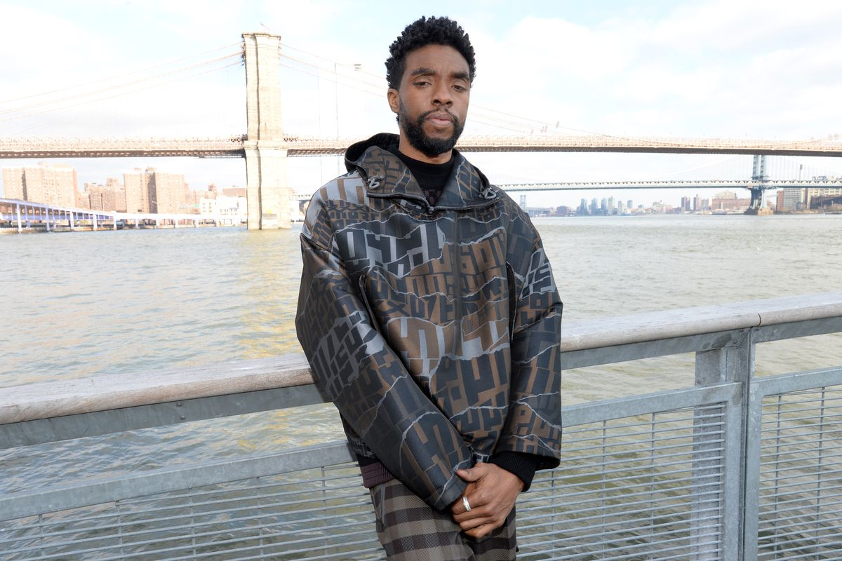 """Chadwick Boseman And The Cast of """"21 Bridges"""" In NYC"""
