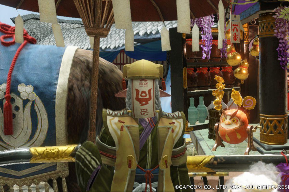 Kagero the Merchant from Monster Hunter Rise