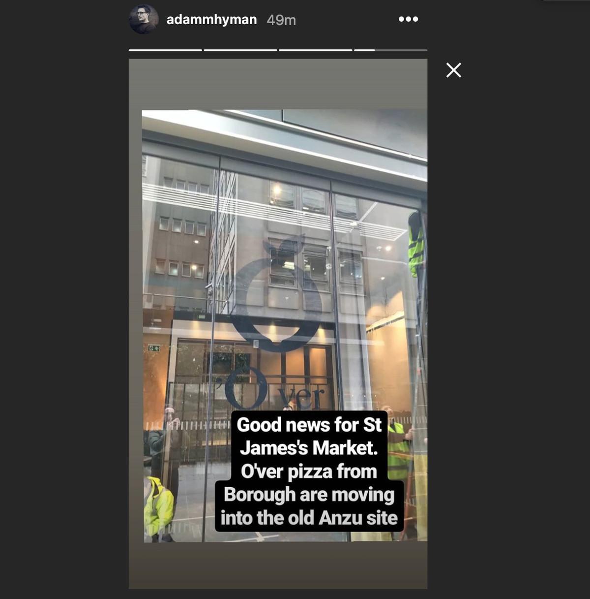 Neapolitan pizzeria O'Ver will replace Tonkotsu's ramen on St. James's Market