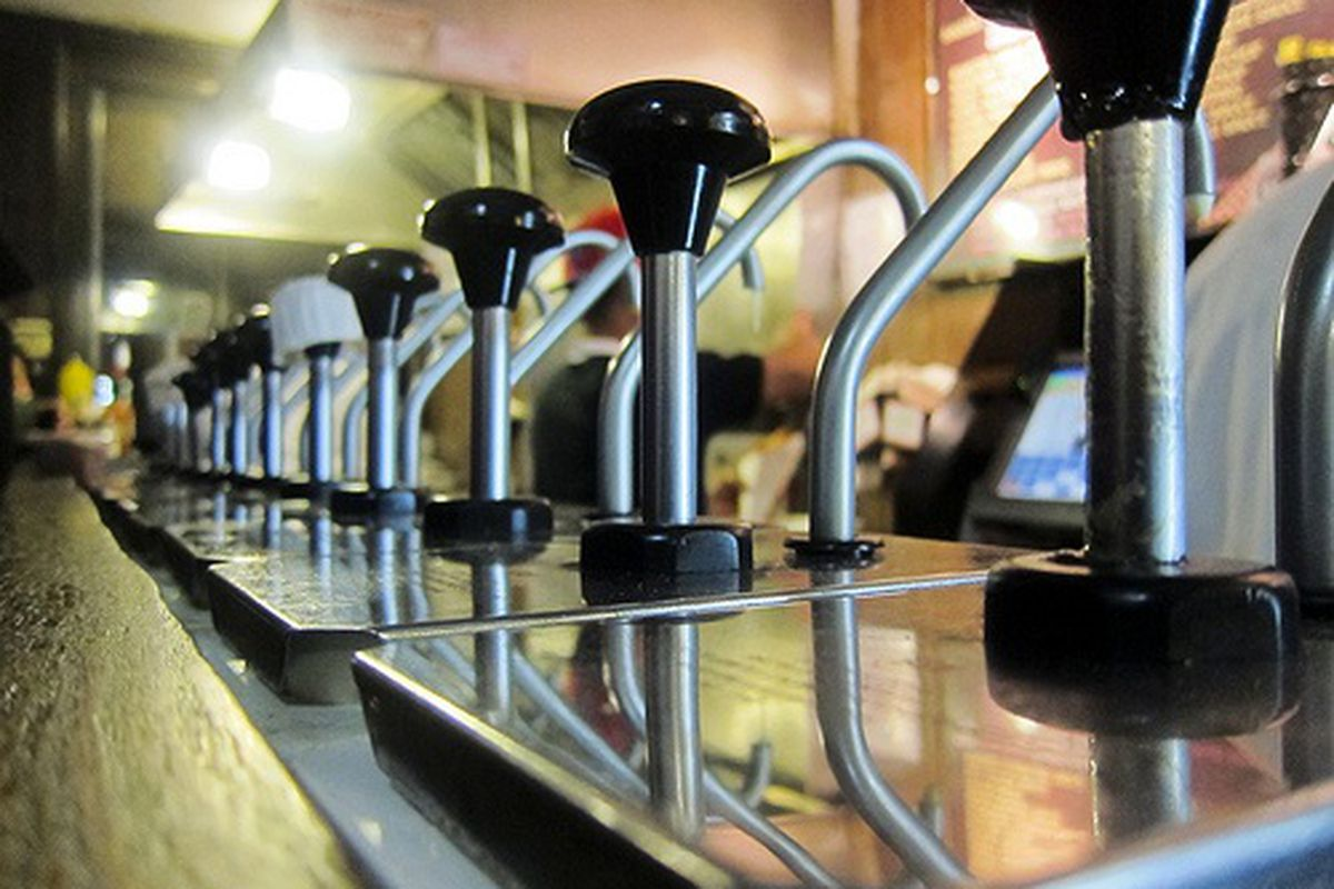 Sauce Dispensers at Pommes Frites