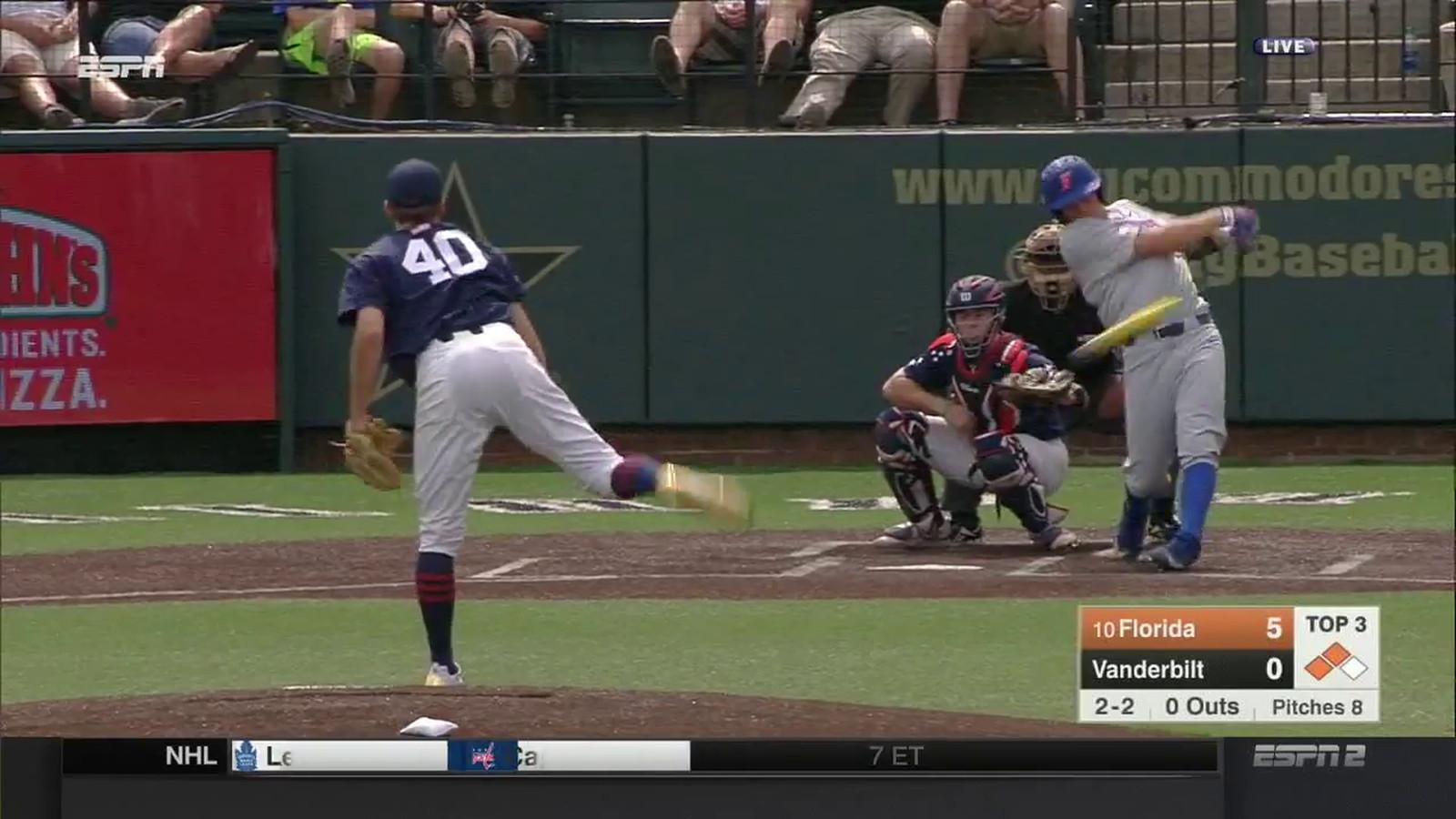 College Baseball Player Breaks His Dang Metal Bat On A