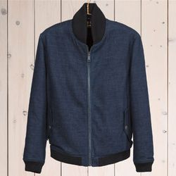 """<strong>Levi's Made and Crafted</strong> Men's Bomber Jacket, <a href=""""http://levismadeandcrafted.com/products/bomber-jacket-17107.html"""">price upon request</a> at Unionmade"""