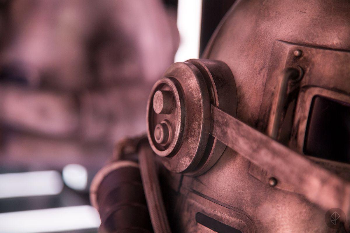 Fallout 76 Power Helmet shown at Bethesda's E3 2018 booth