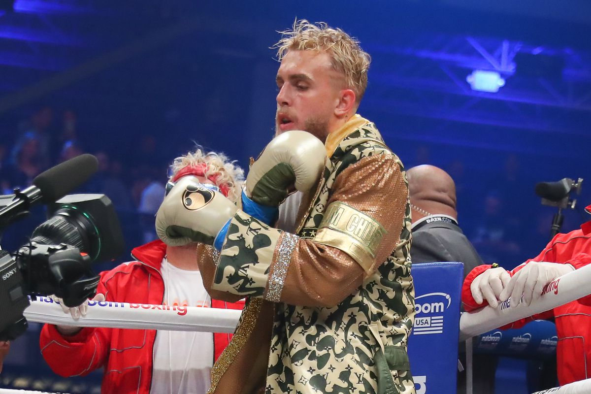 Jake Paul of Los Angeles California enters the ring make his boxing pro debut on January 30, 2020 part of Matchroom Boxing and DAZN Miami Fight Night at the Meridian in Miami, Fl.