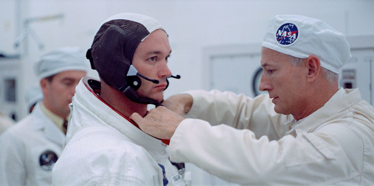 apollo 11: an astronaut suits up for flight