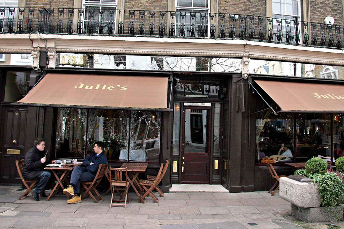 Julie's Restaurant London will reopen in Holland Park after fifty years serving celebrities