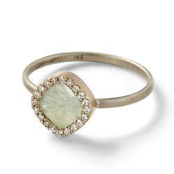 "<b>Monique Péan</b> Opal stud ring with white diamond pavé, <a href=""http://moniquepean.com/shop/rings/rcd526w.html"">$2,330</a>"
