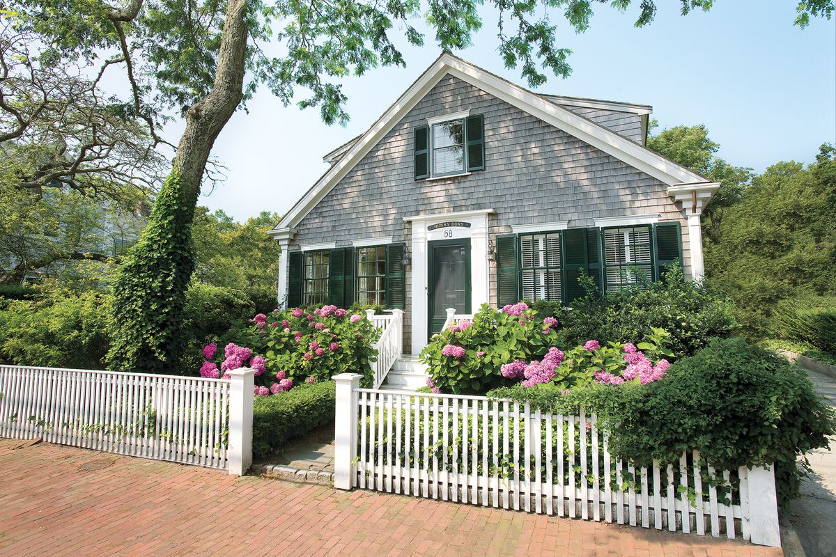House With White Picket Fence.