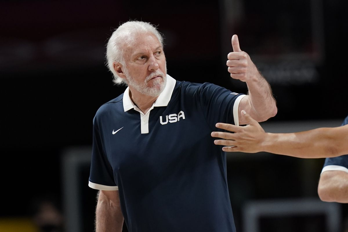 United States' head coach Gregg Popovich will lead his team against France in the Tokyo Olympics gold-medal game.