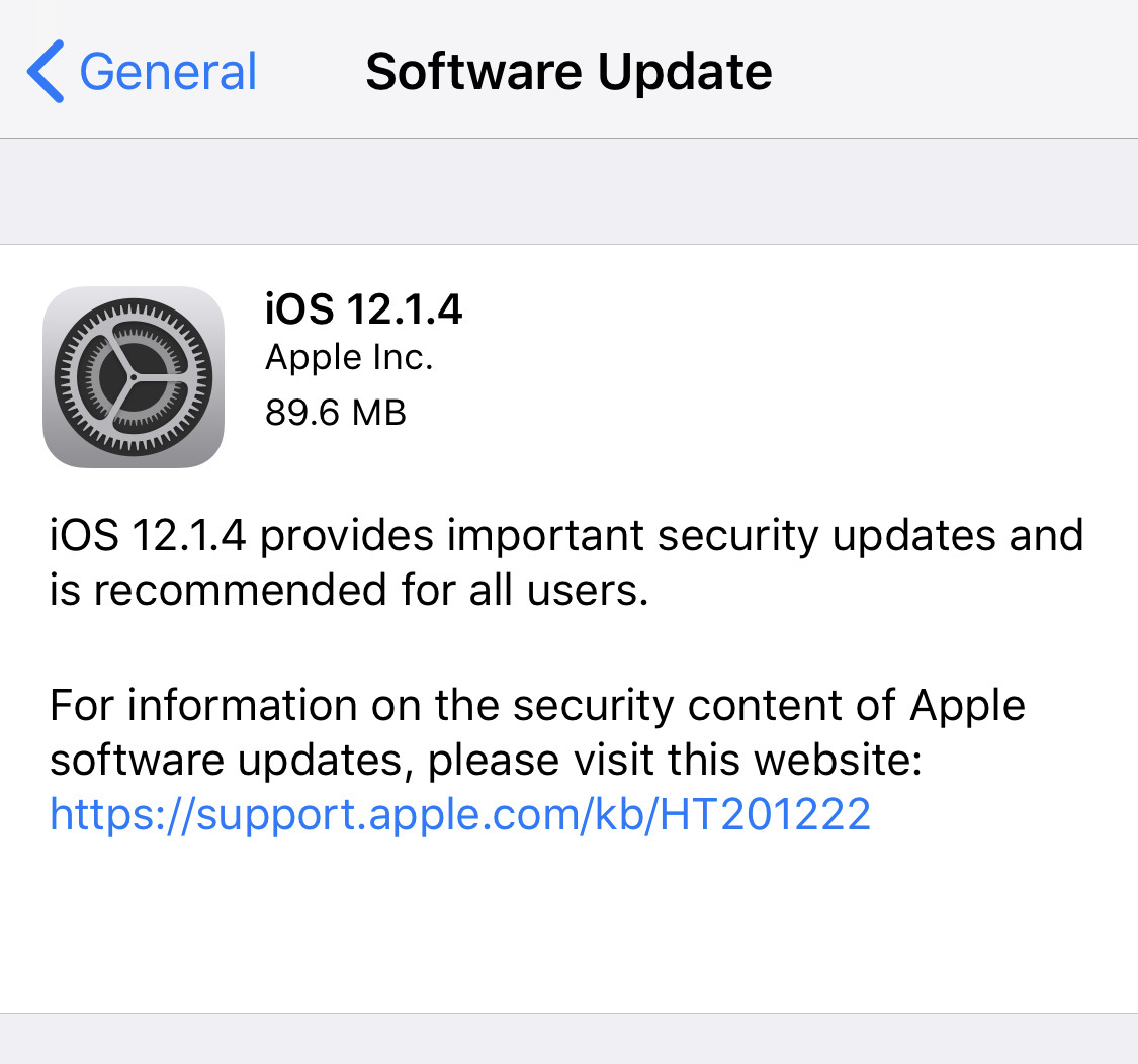 Apple releases iOS 12 1 4 to fix Group FaceTime security