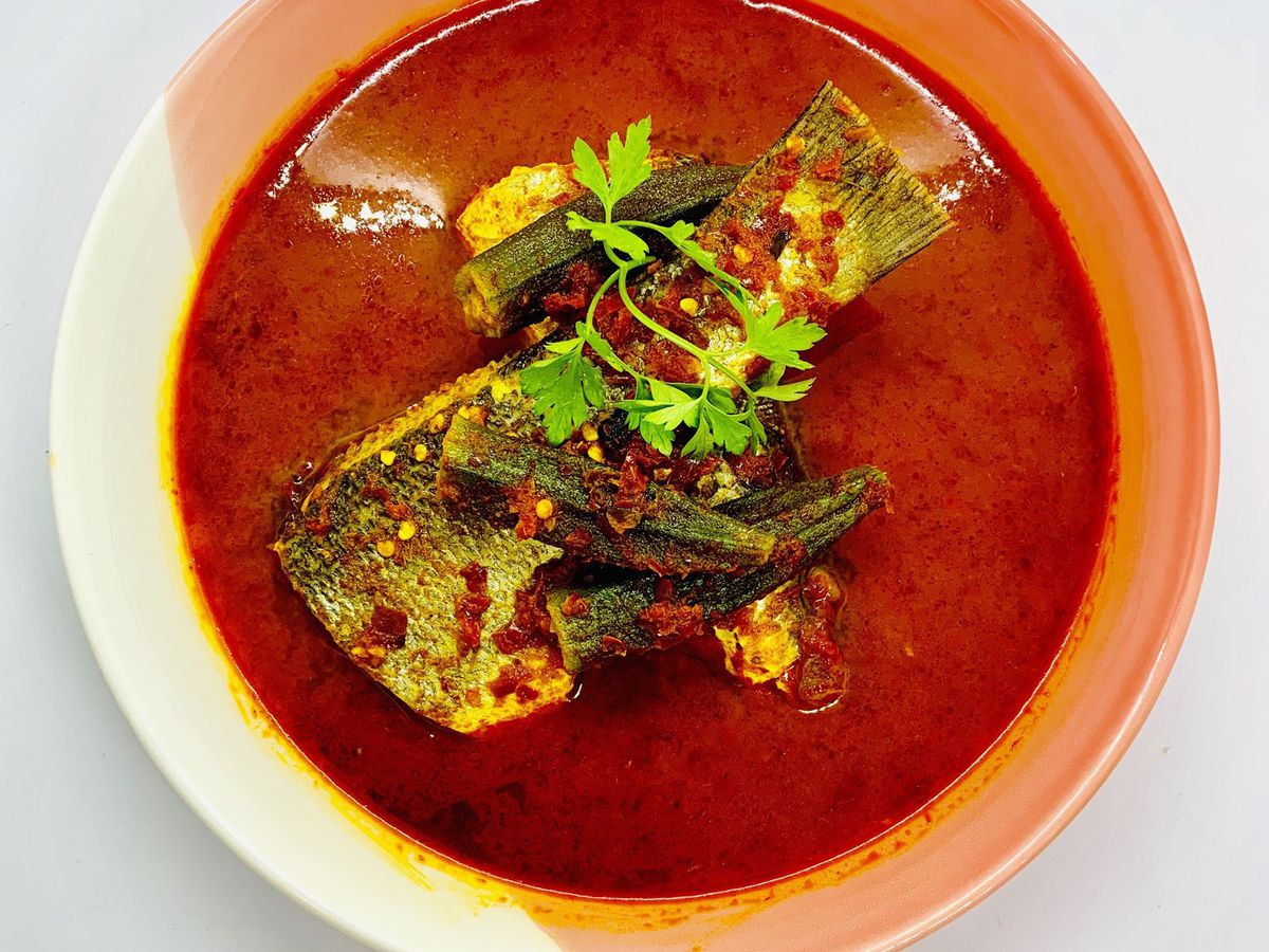 Assam pedas at Normah's Cafe in Queensway