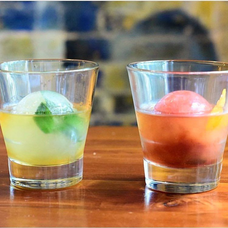 Ice ball cocktails from Swift's Attic