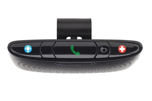 Verizon Vehicle, launching in the second quarter, taps the diagnostic port found on most cars along with this Bluetooth speaker.