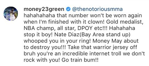 the latest 1c457 77184 Conor McGregor and Draymond Green squabbled on Instagram ...