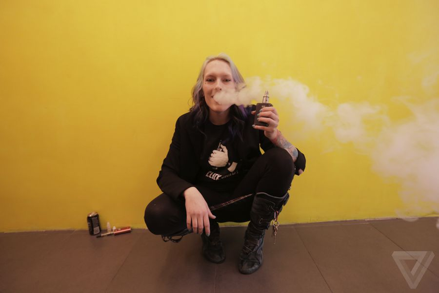 new york city vape in photo essay the verge jenee fowler also known as vape girl on puffs some freckle faced dragonberry