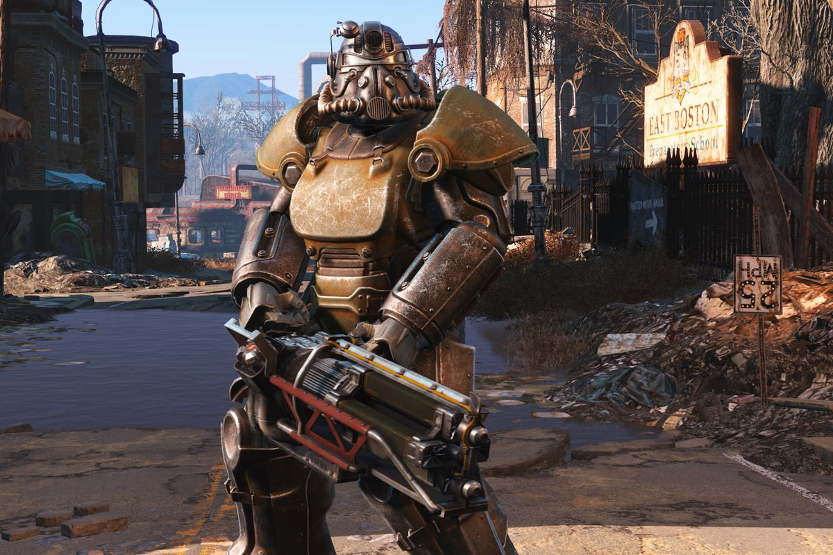 Brotherhood of Steel armor from Fallout 4