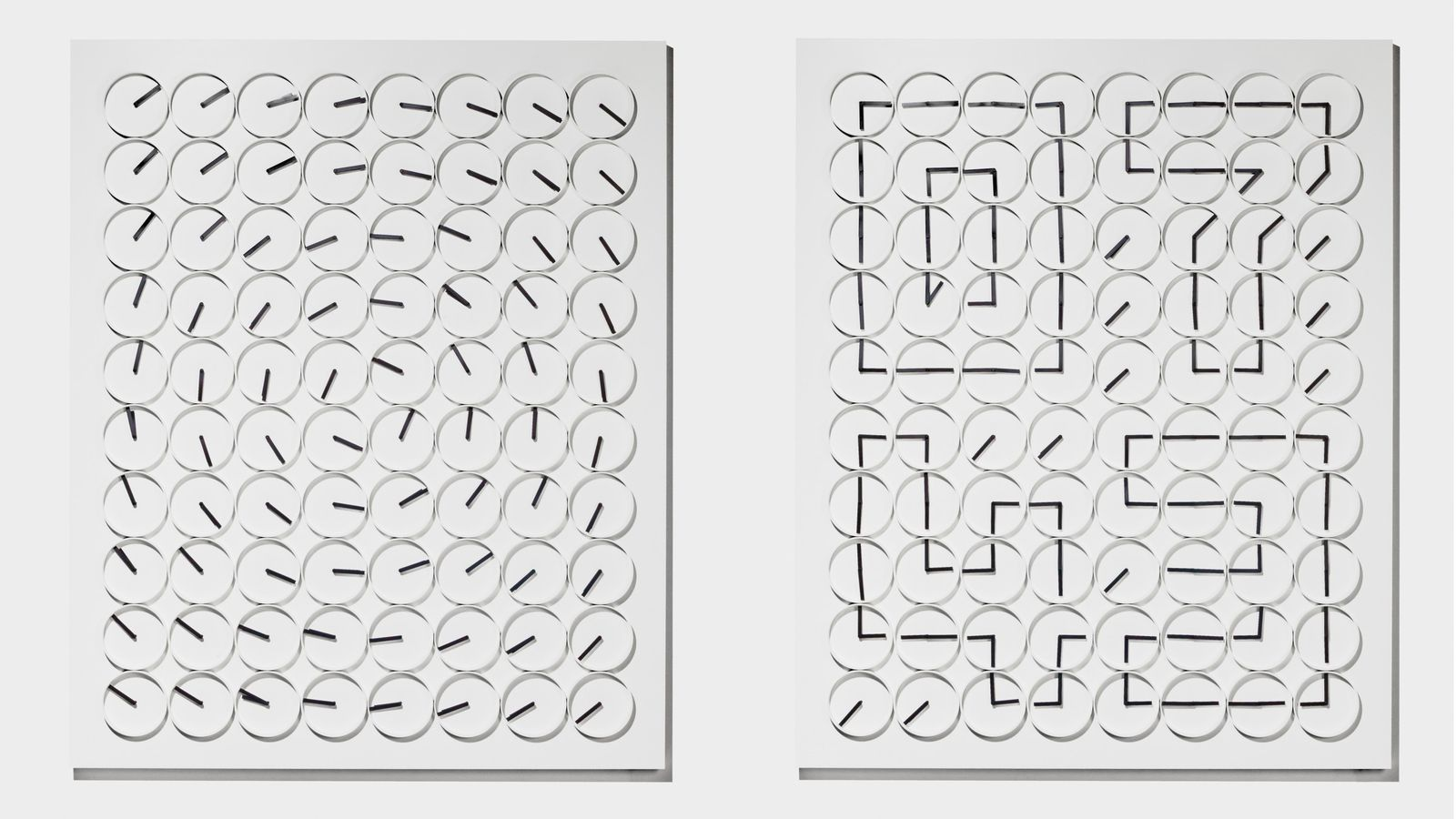 making digital time out of analog clocks is mesmerizing