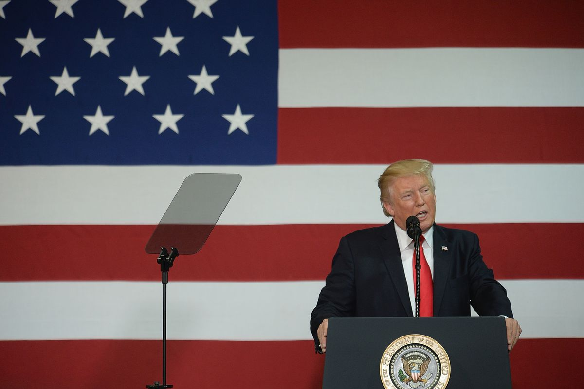 President Trump Speaks On Tax Reform In Springfield, Missouri