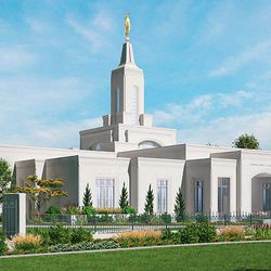 Artist's rendering of the Cordoba Argentina Temple.