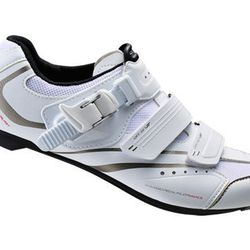"""The <strong>Shimano</strong> SH-WR42 women's cycling shoes, <a href=""""http://www.shimano-lifestylegear.com/us/fw/products/road/010sh_wr42.php?pSccontentsPro"""">$120</a> at Sports Basement, are for the girl who wants to get serious about her spinning. The low"""