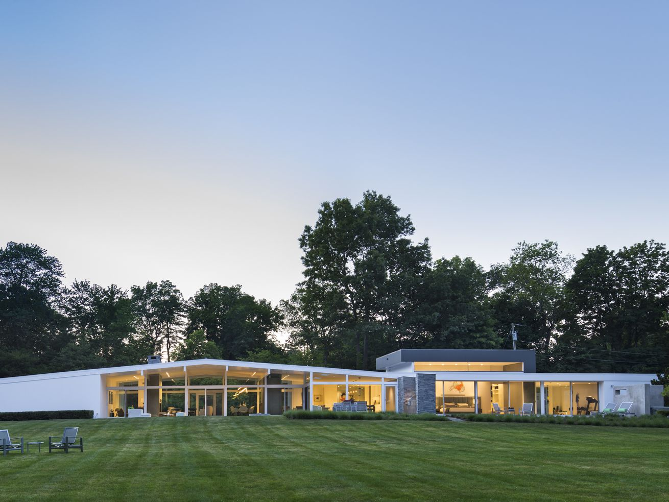 John Black Lee Mid-Century in New Canaan (With a 2,600-Square-Foot Addition) Asks $5M