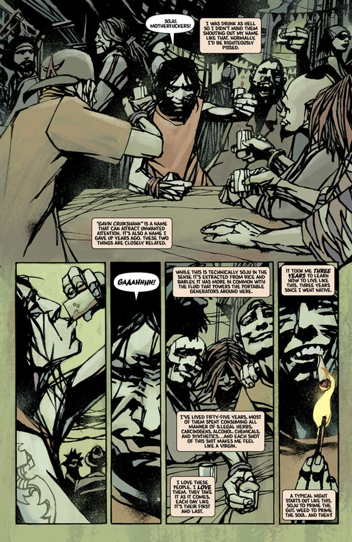 Pages From Starves First Issue Courtesy Image Comics