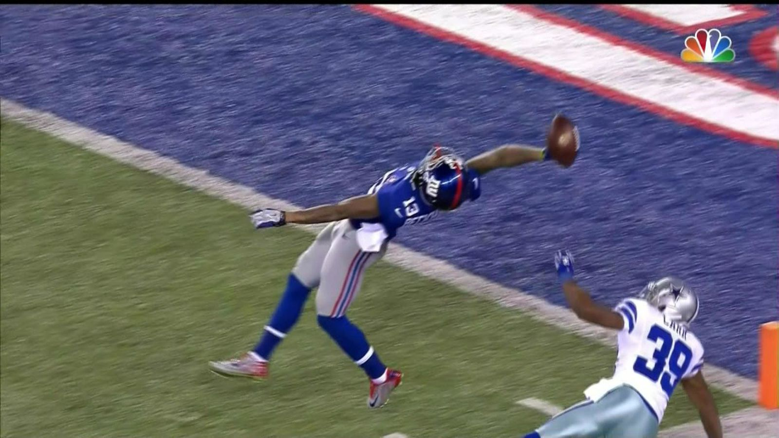 odell beckham jr makes incredible 1handed td catch vs