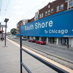The South Shore Metra station. | Colin Boyle/Sun-Times