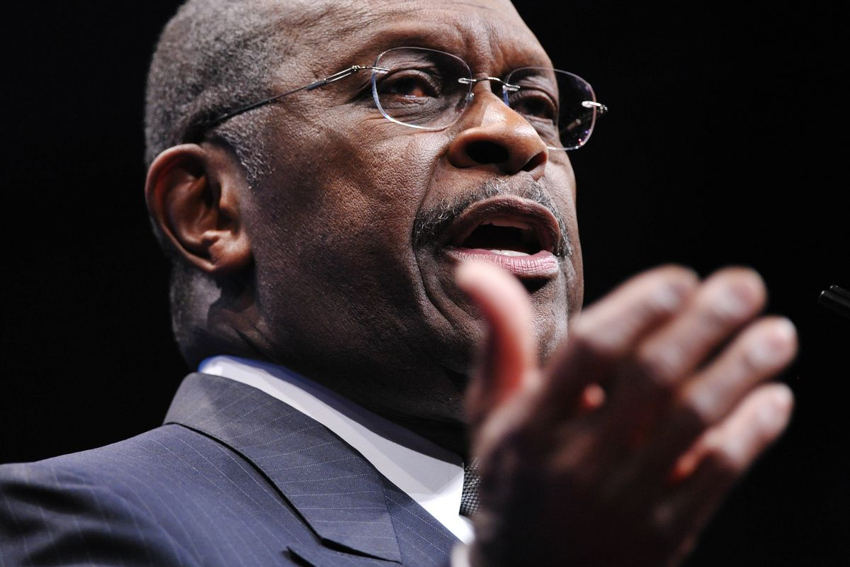Former Republican presidential candidate Herman Cain
