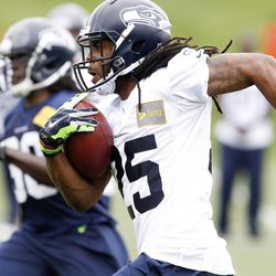Sherman getting work in on punt returns (I think)