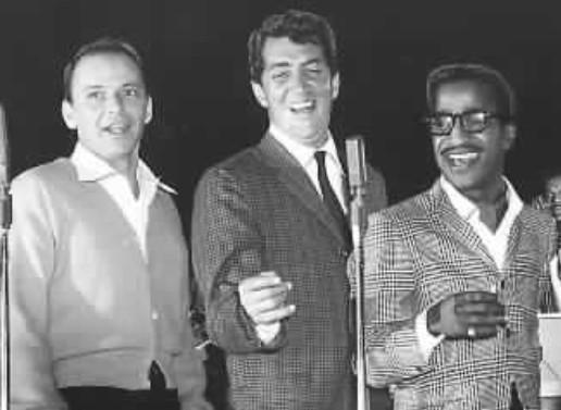 <em>Sinatra (L) with Dean Martin and Sammy Davis Jr. in Las Vegas</em>.