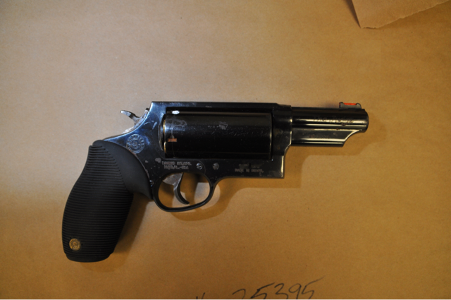 A gun recovered by Evanston police after a robbery Tuesday night.   Evanston police