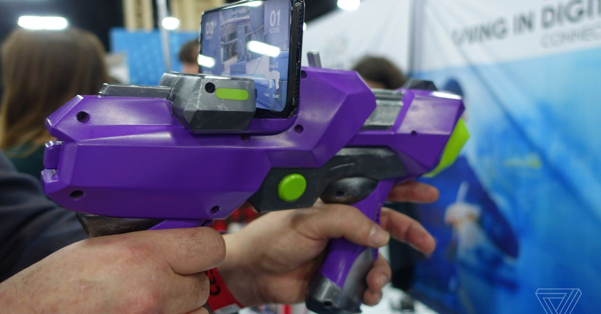 Merge VR has made a Nerf-like gun that supports smartphone games