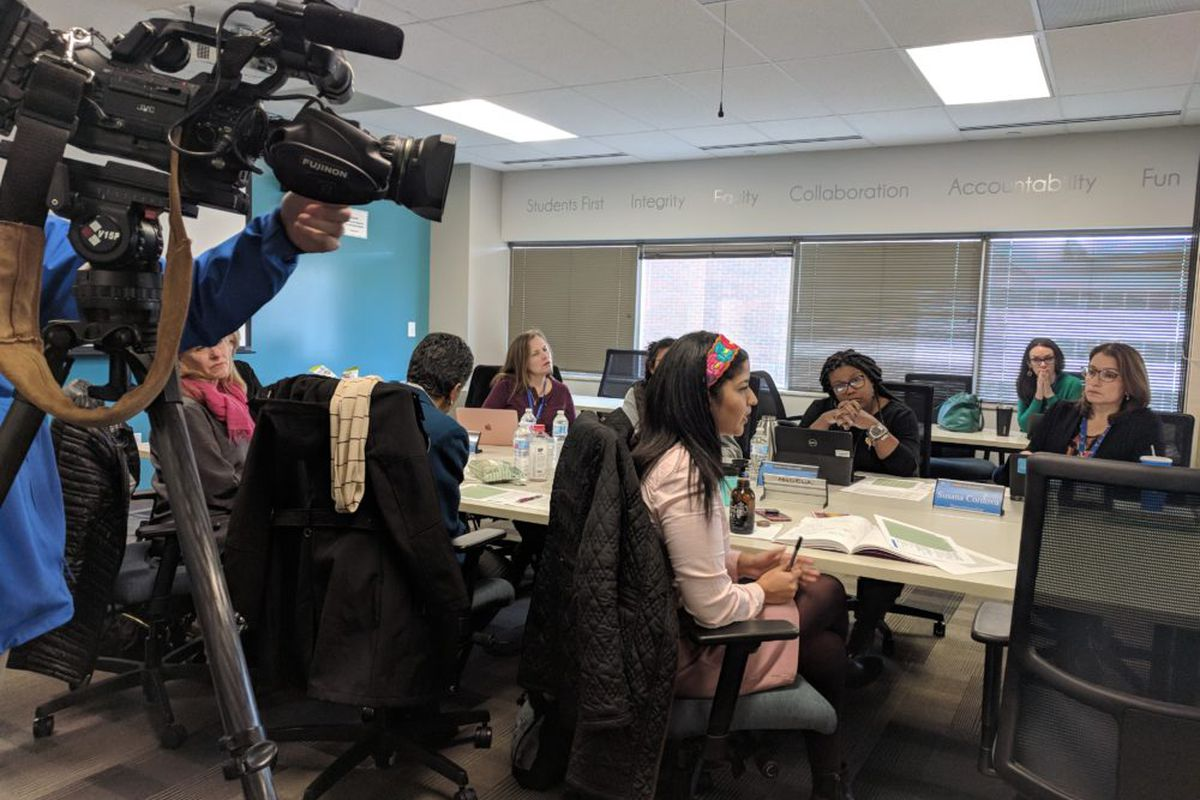 Denver school board members get the latest on negotiations that have hit a turning point.
