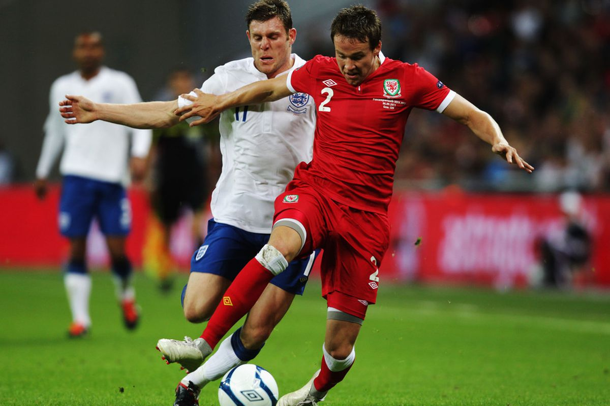 Gunter will being going head-to-head again with England's finest...and James Milner, after joining Reading from Forest.