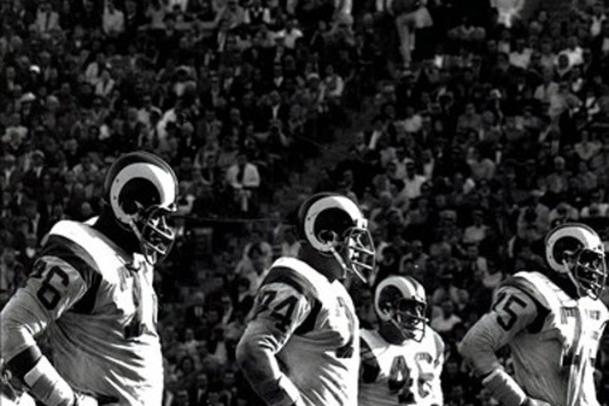 The fearsome foursome. RIP Deacon Jones and Merlin Olsen