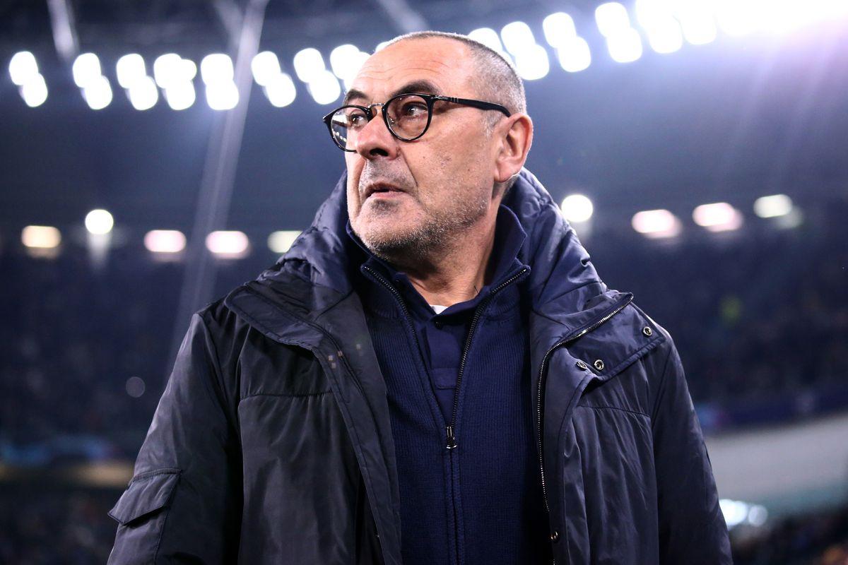 Maurizio Sarri , head coach of Juventus FC, during the Uefa...