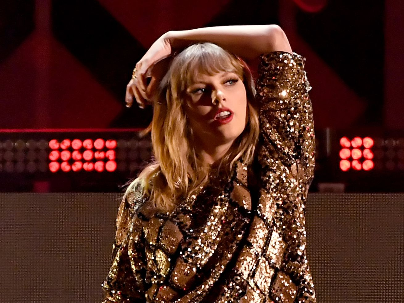 Taylor Swift performing in 2017.
